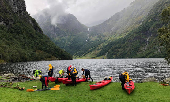 Lodge-Based Kayaking in the Norwegian Fjords