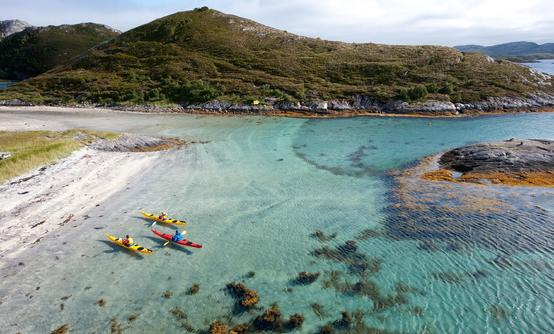 Kayak course on the Helgeland Coast